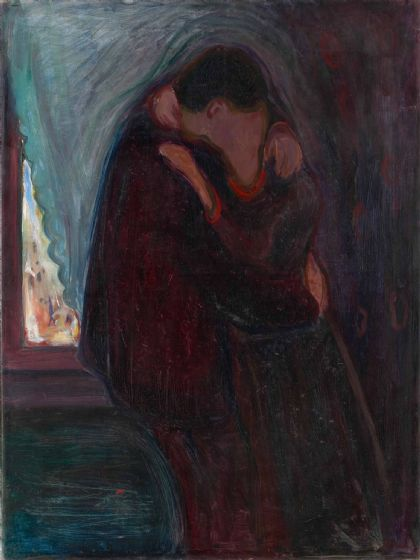 Munch, Edvard: The Kiss. Fine Art Print/Poster (0081)